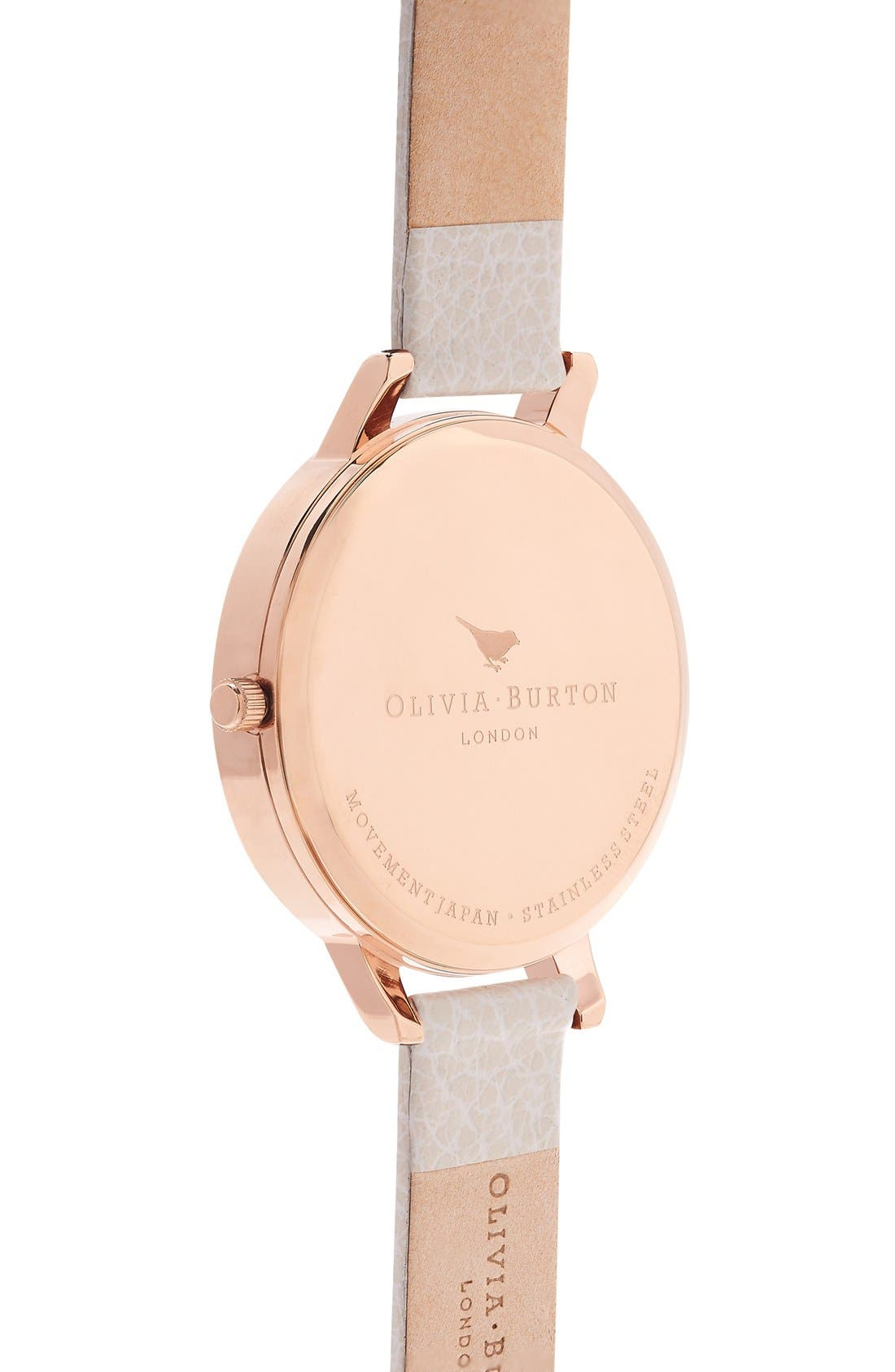 Alternate Image 3  - Olivia Burton 'Modern Vintage' Leather Strap Watch, 38mm