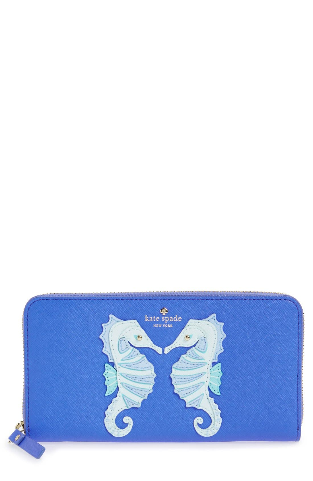 Main Image - kate spade new york 'seahorse appliqué - lacey' leather wallet