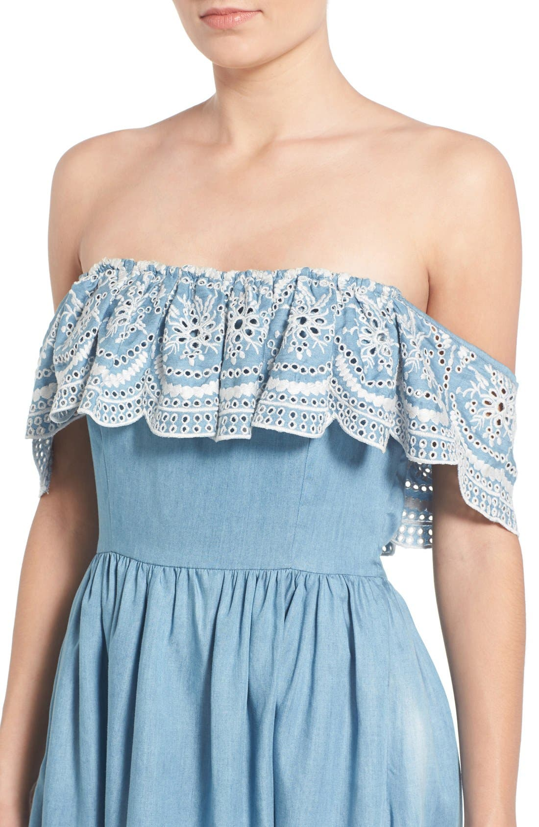 Alternate Image 6  - Lovers + Friends 'Dream Vacay' Off the Shoulder Fit & Flare Dress