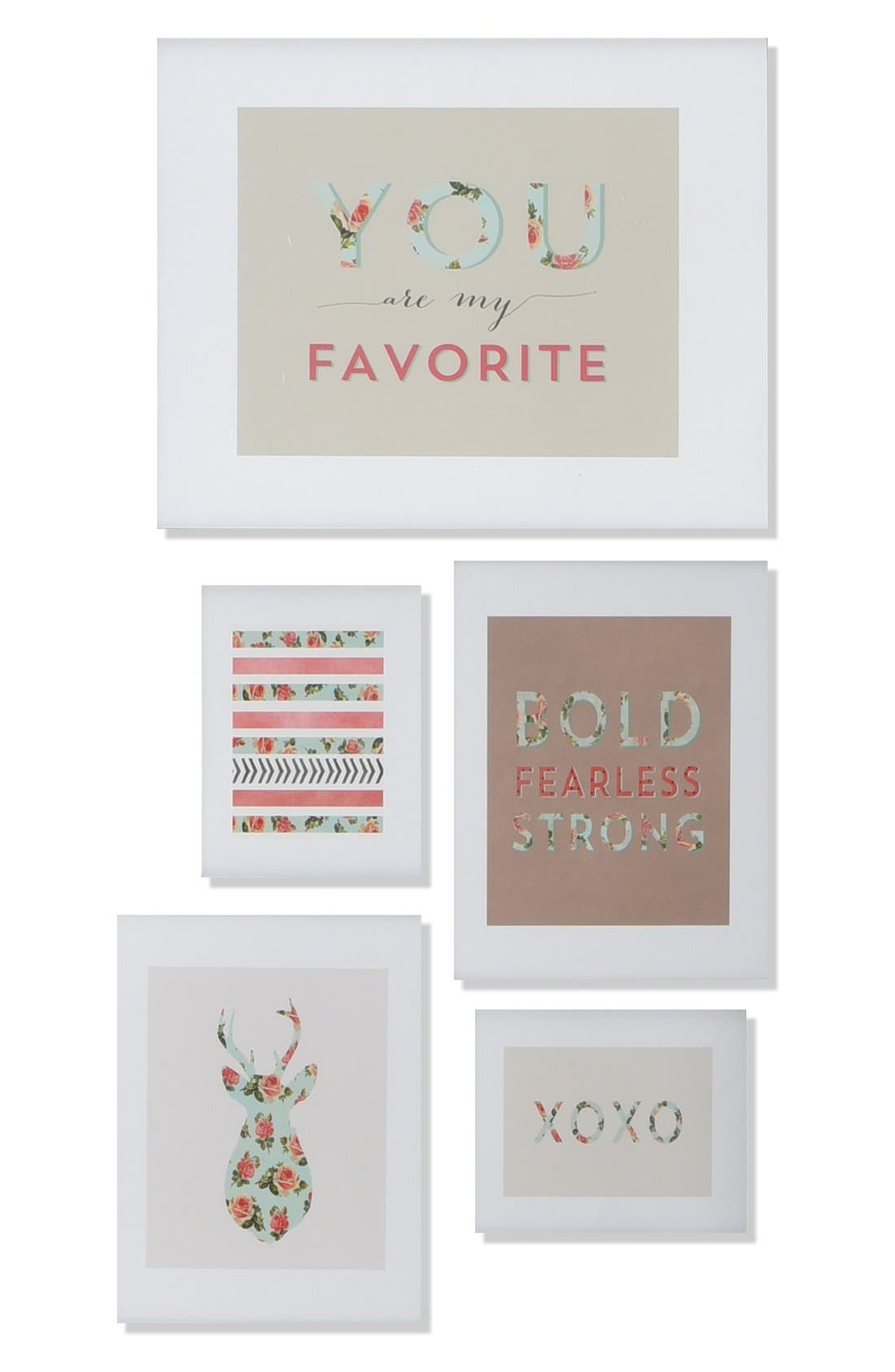 Main Image - Deny Designs 'You Are My Fave' Wall Art Gallery (Set of 5)