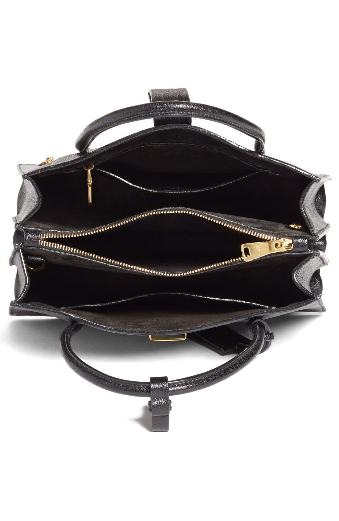 Alternate Image 4  - Miu Miu 'Small Madras' Goatskin Leather Satchel