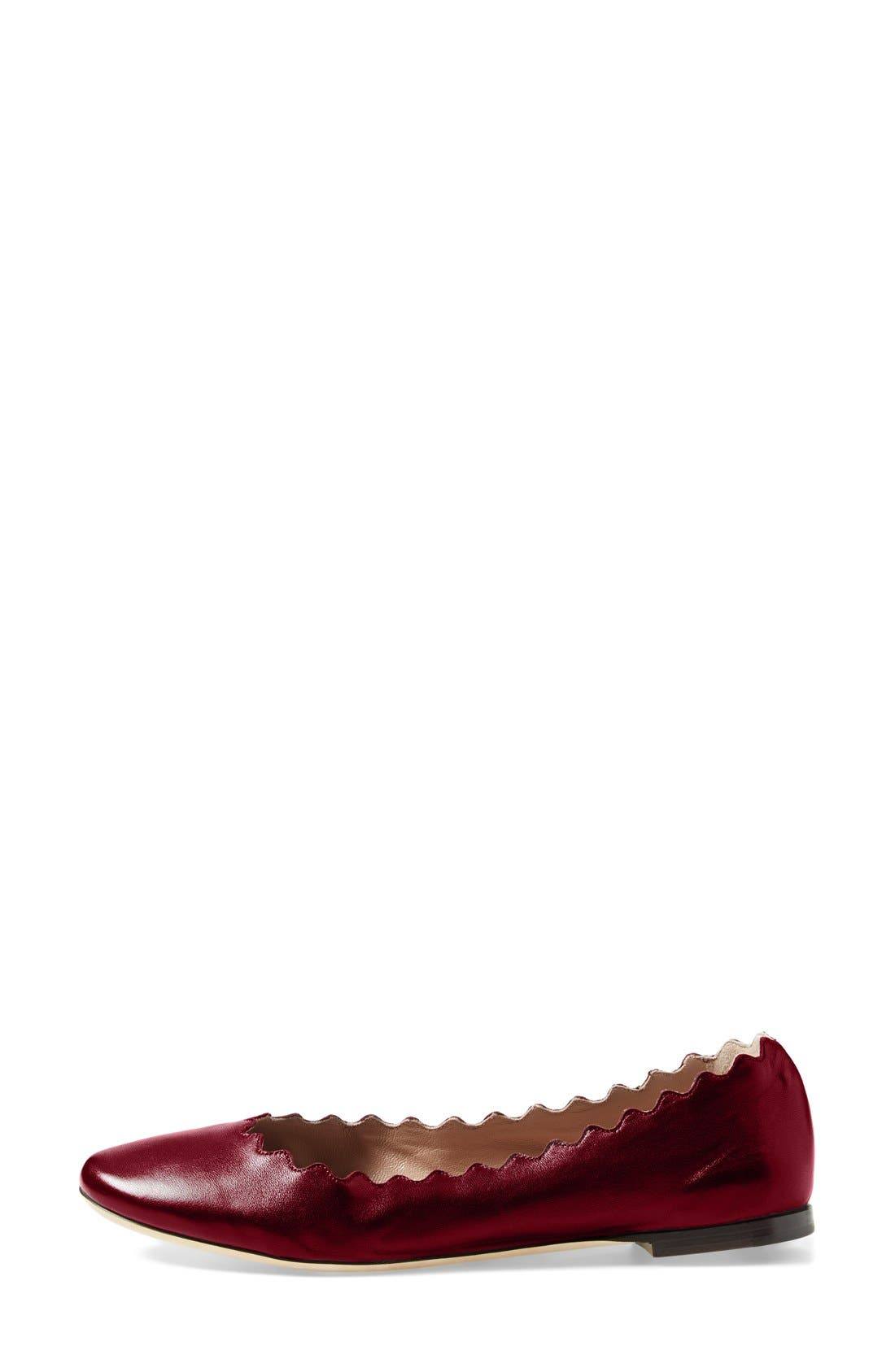 Alternate Image 4  - Chloé 'Lauren' Scalloped Ballet Flat (Women)