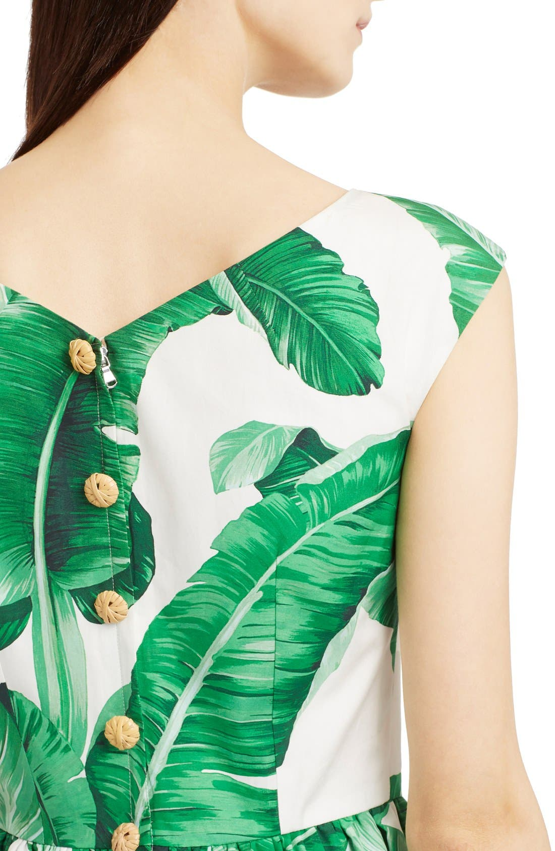 Alternate Image 6  - Dolce&Gabbana Banana Leaf Print Cotton Poplin Dress