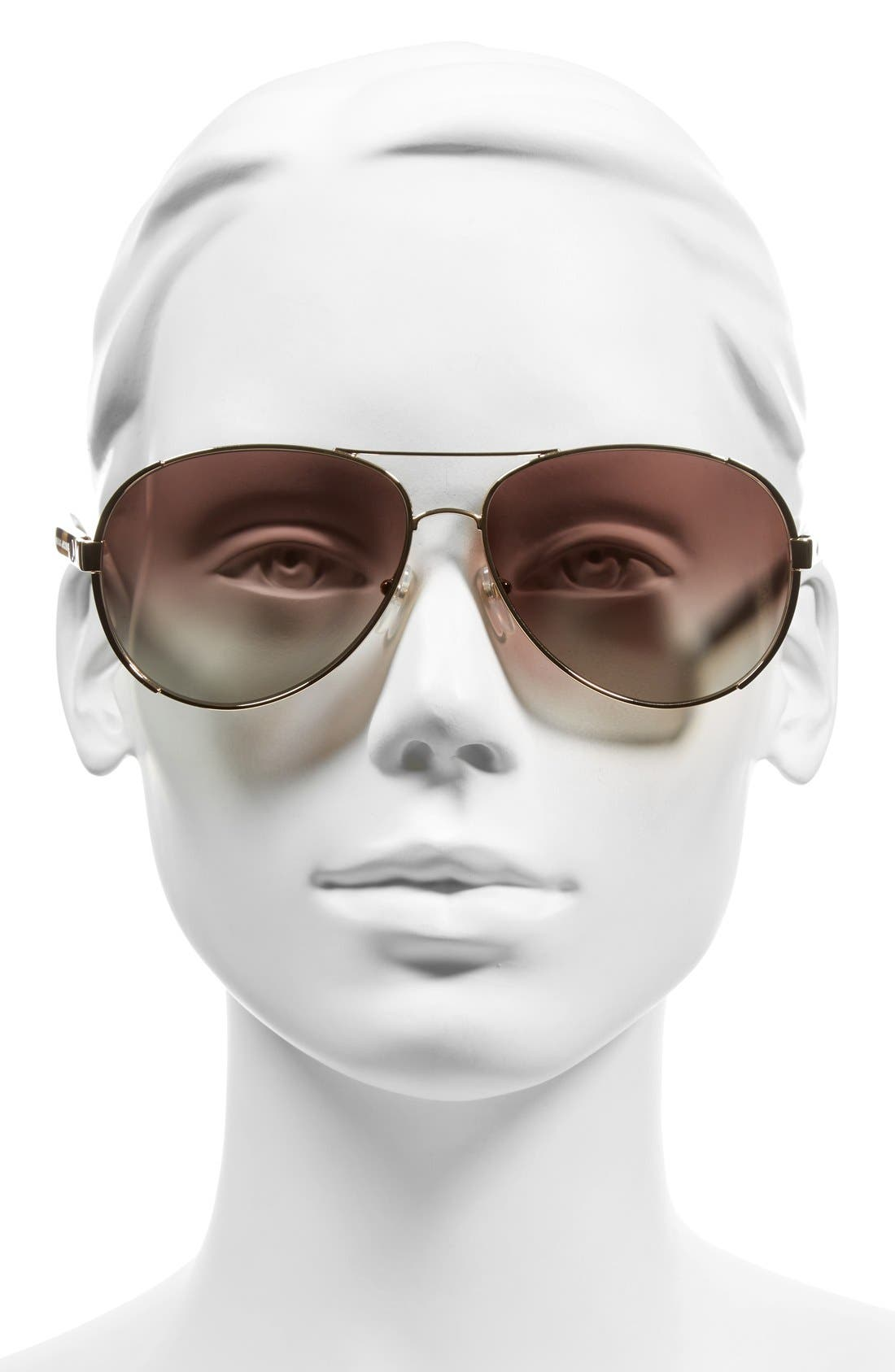 Alternate Image 2  - MARC JACOBS 60mm Aviator Sunglasses
