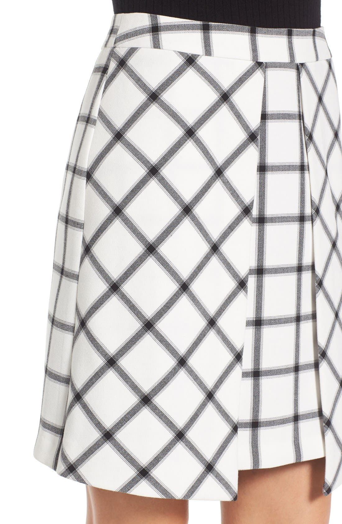 Alternate Image 5  - Halogen® Pleat Detail A-Line Skirt (Regular & Petite)