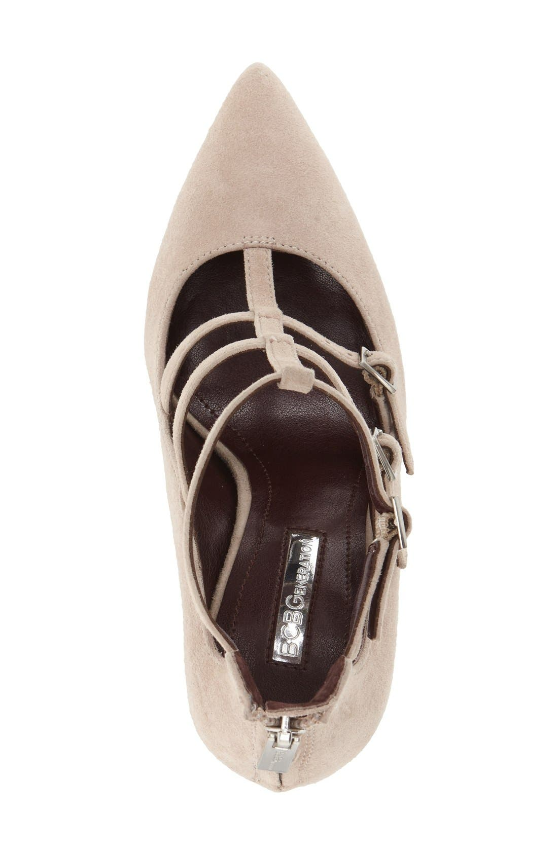 'Tamerra' Cage Pump,                             Alternate thumbnail 3, color,                             Pumice Suede
