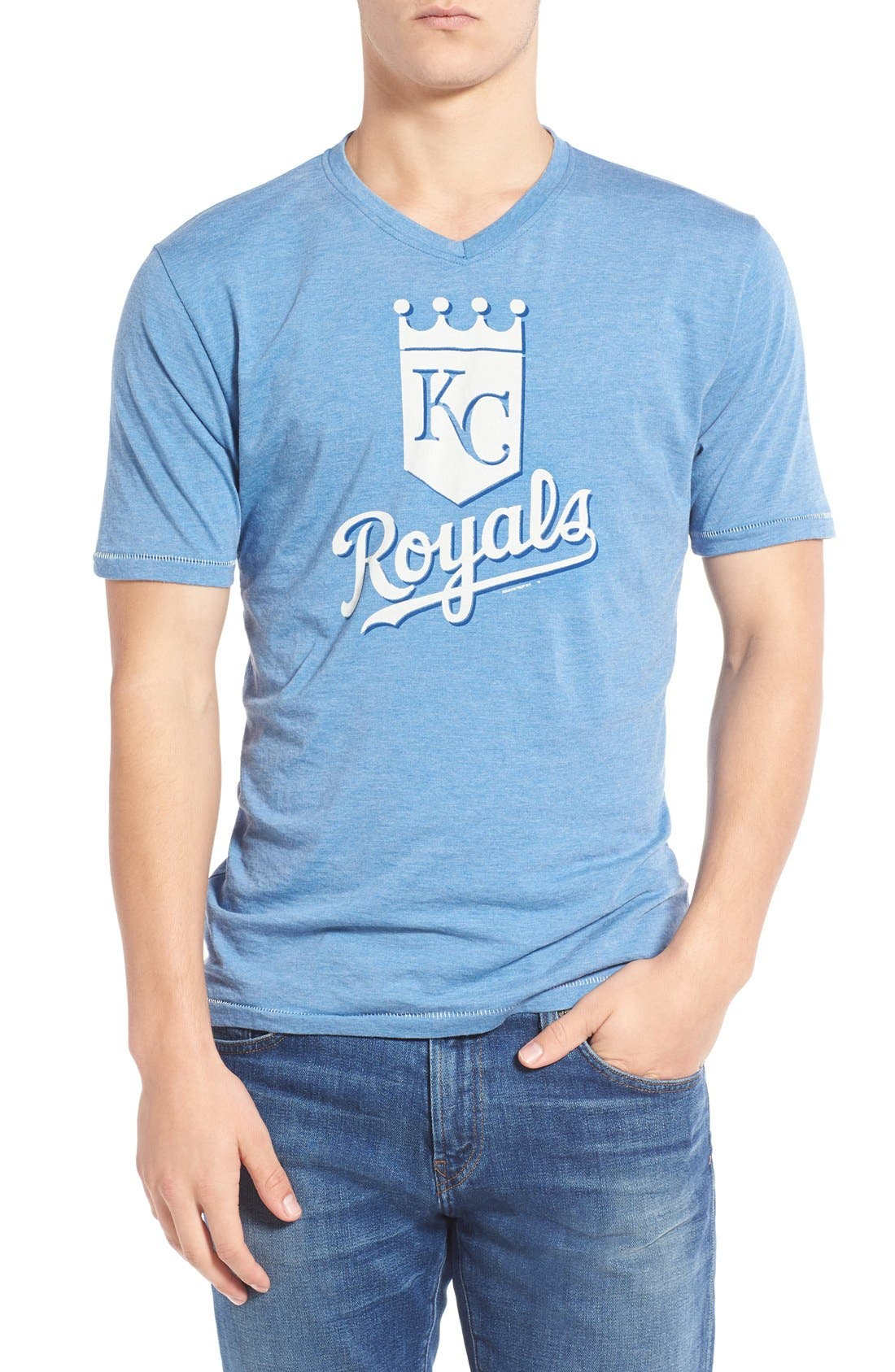Red Jacket 'Kansas City Royals - Calumet' Graphic V-Neck T-Shirt
