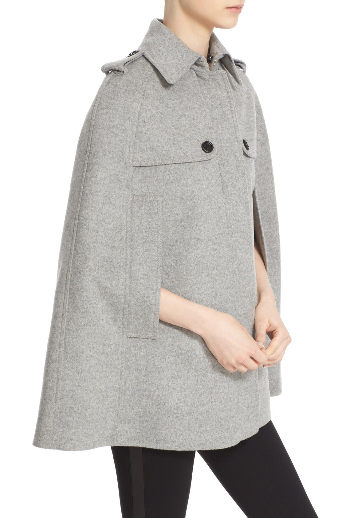 Alternate Image 6  - Burberry 'Wolseley' Wool & Cashmere Trench Cape with Removable Genuine Rabbit Fur Collar