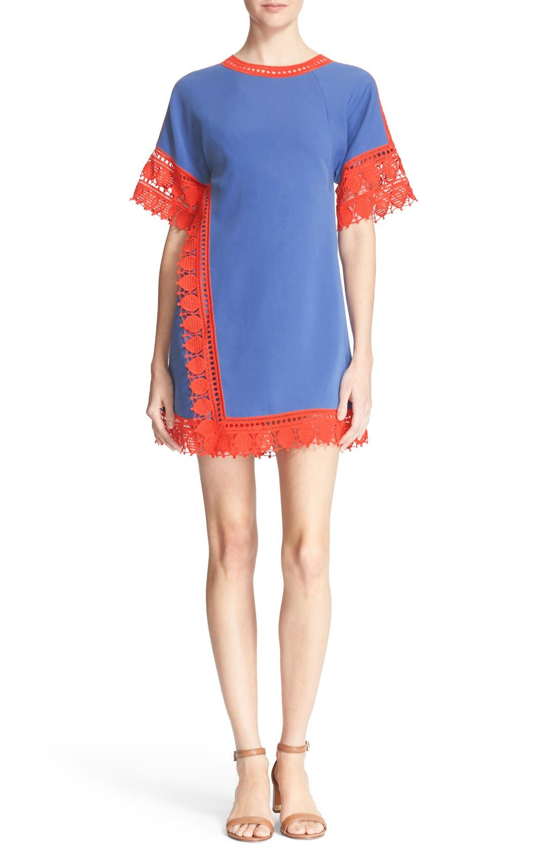 Main Image - Tory Burch 'Marissa' Lace Trim Dress