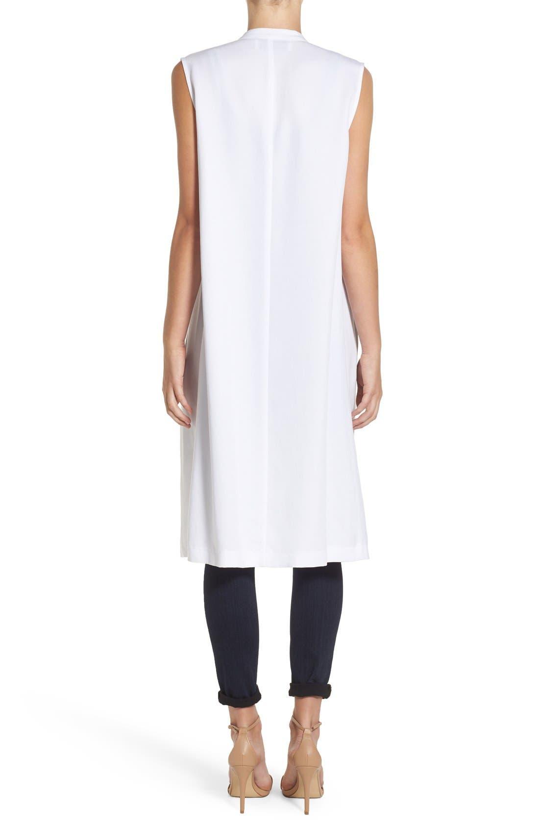 'Sara' Long Vest,                             Alternate thumbnail 2, color,                             White
