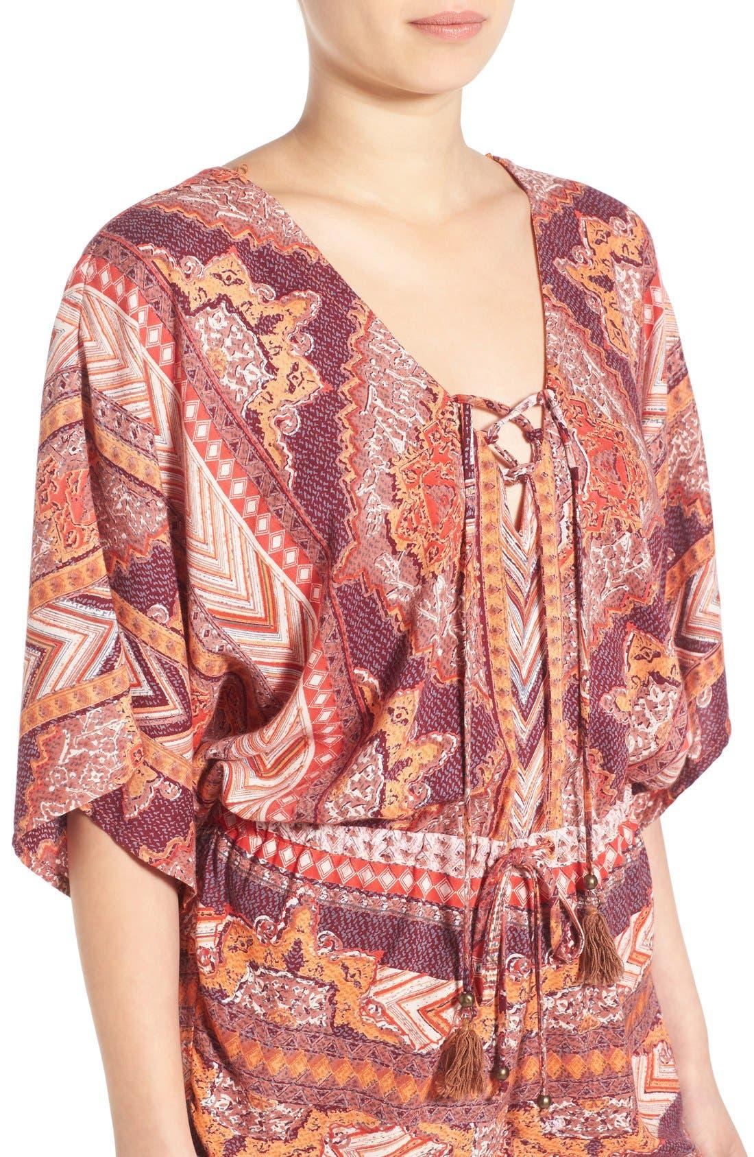 Alternate Image 4  - Angie Kimono Sleeve Romper