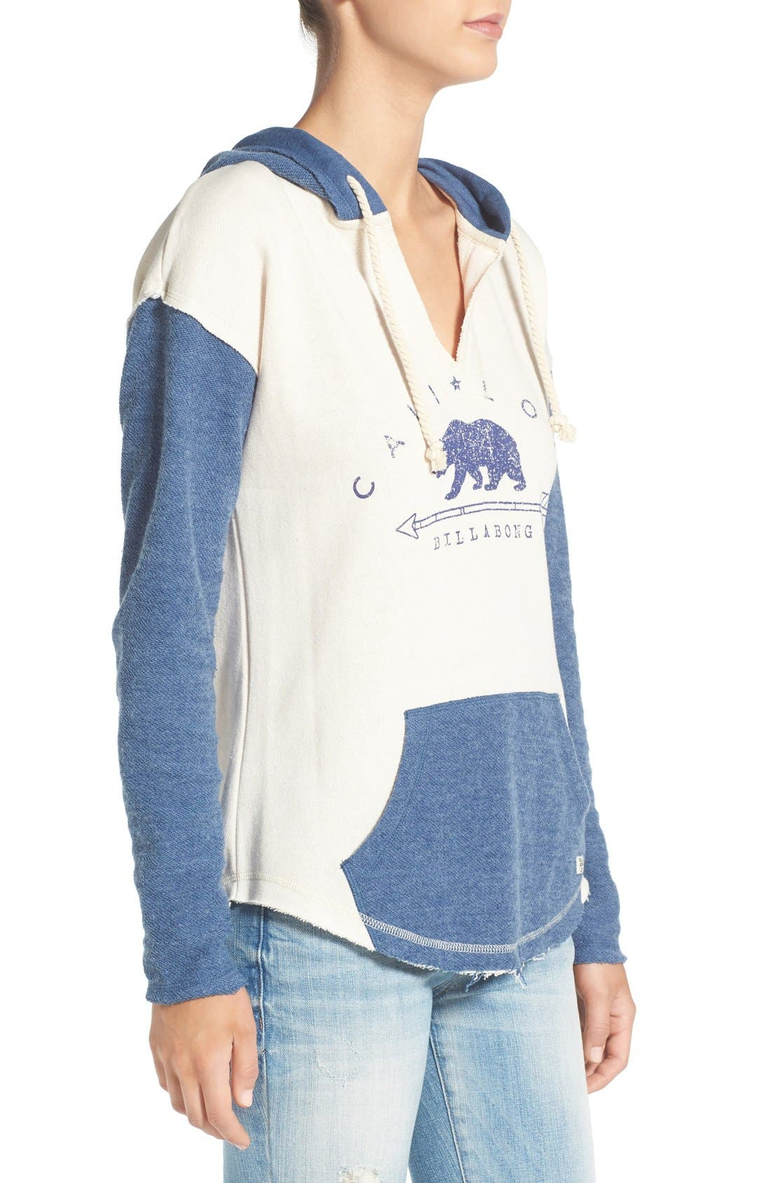 Alternate Image 3  - Billabong 'Cali Days' Colorblock Hoodie