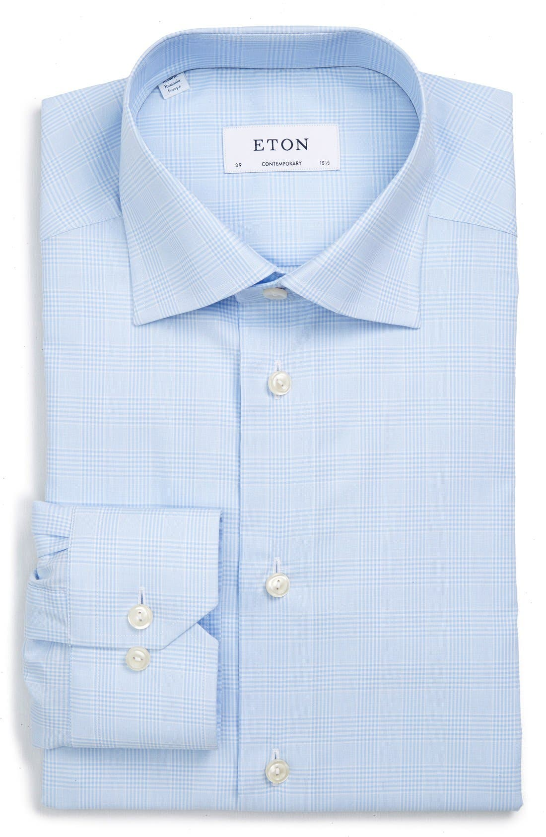 Alternate Image 1 Selected - Eton Contemporary Fit Plaid Dress Shirt