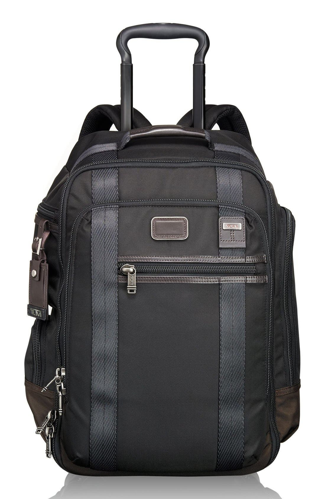 'Alpha Bravo – Peterson' Wheeled Backpack,                         Main,                         color, Hickory Black