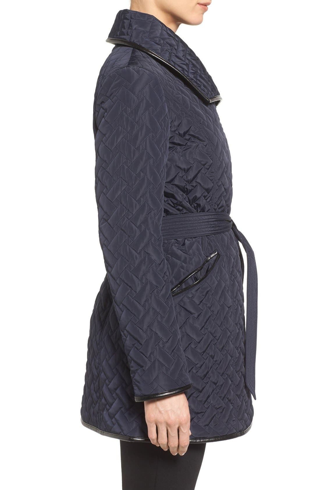 Alternate Image 3  - Cole Haan Signature Water Resistant Quilted Wrap Coat