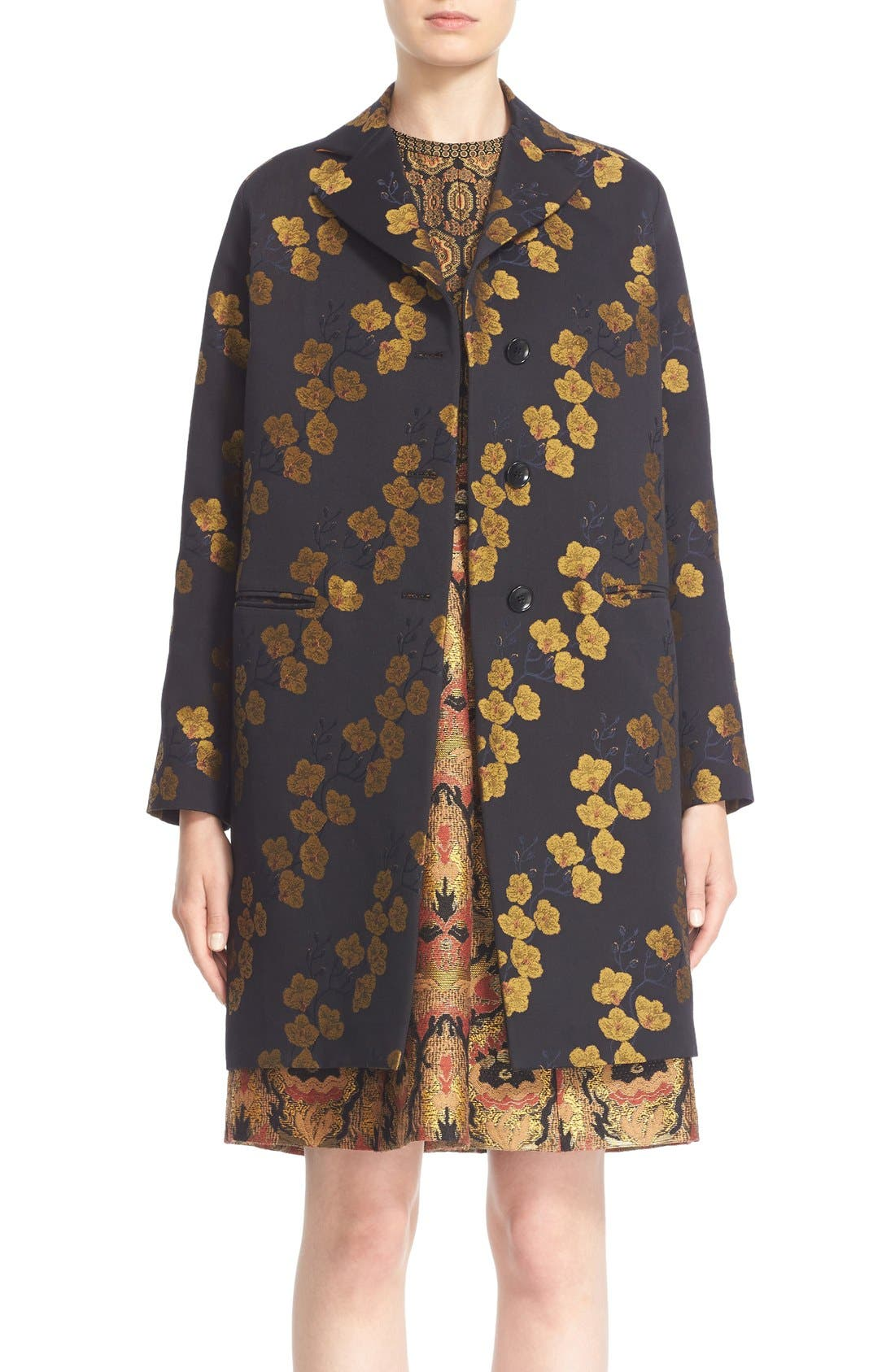 Alternate Image 1 Selected - Etro Jacquard Cocoon Coat