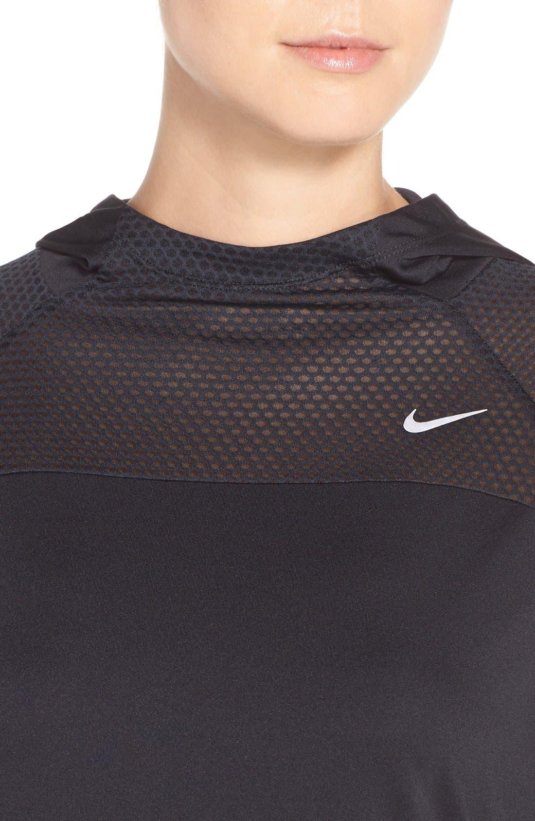 Alternate Image 4  - Nike 'Run Fast' Hooded Dri-FIT Pullover