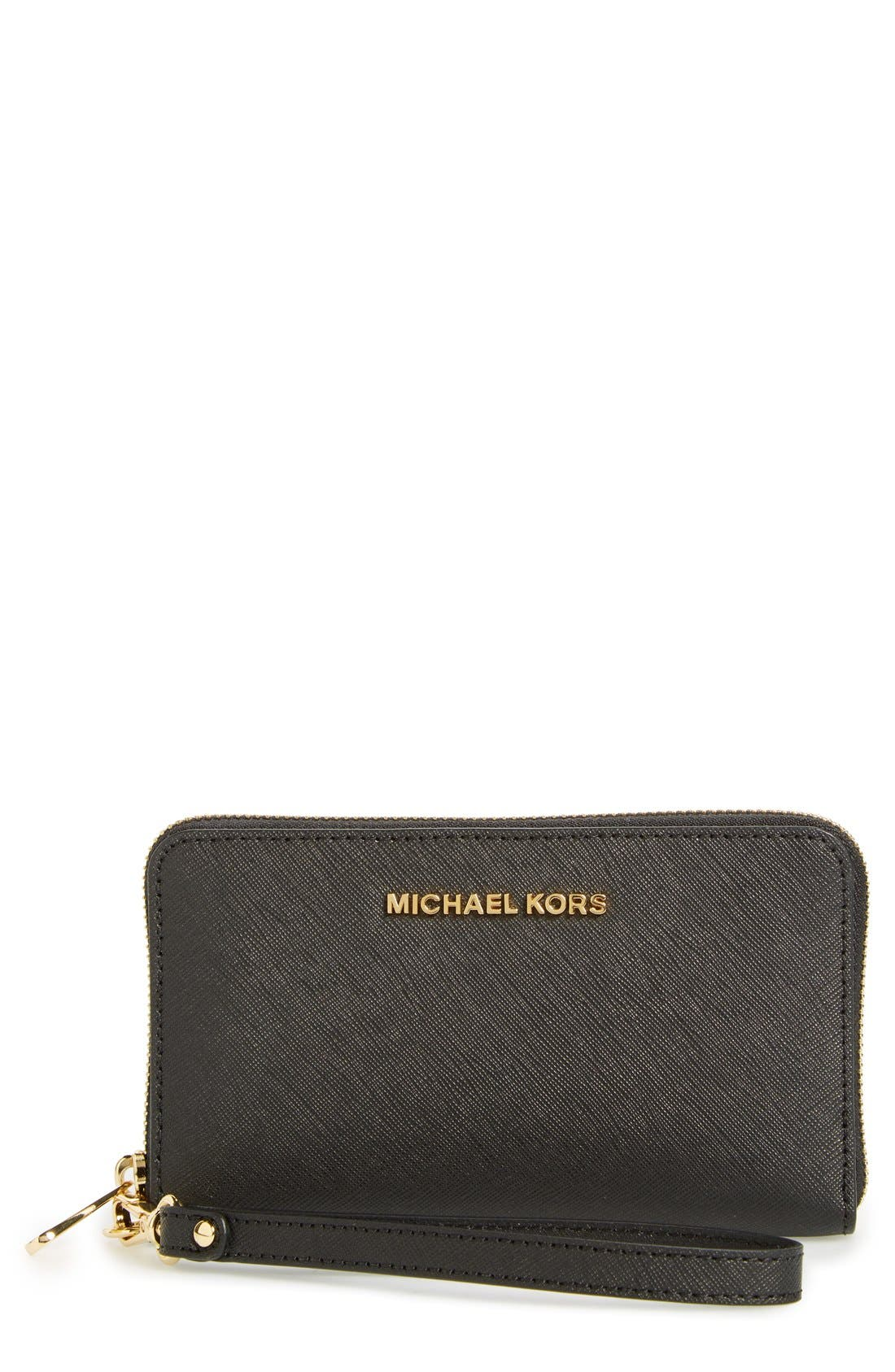 Main Image - MICHAEL Michael Kors 'Jet Set Travel' Multifunction Phone Case