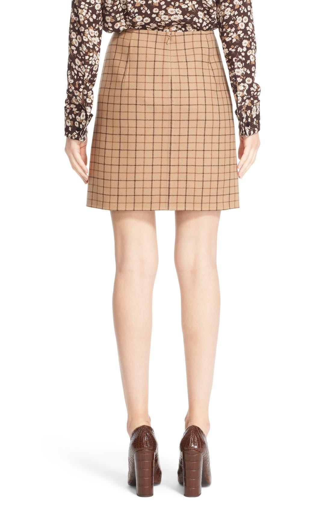 Alternate Image 2  - Michael Kors Plaid Wool A-Line Skirt