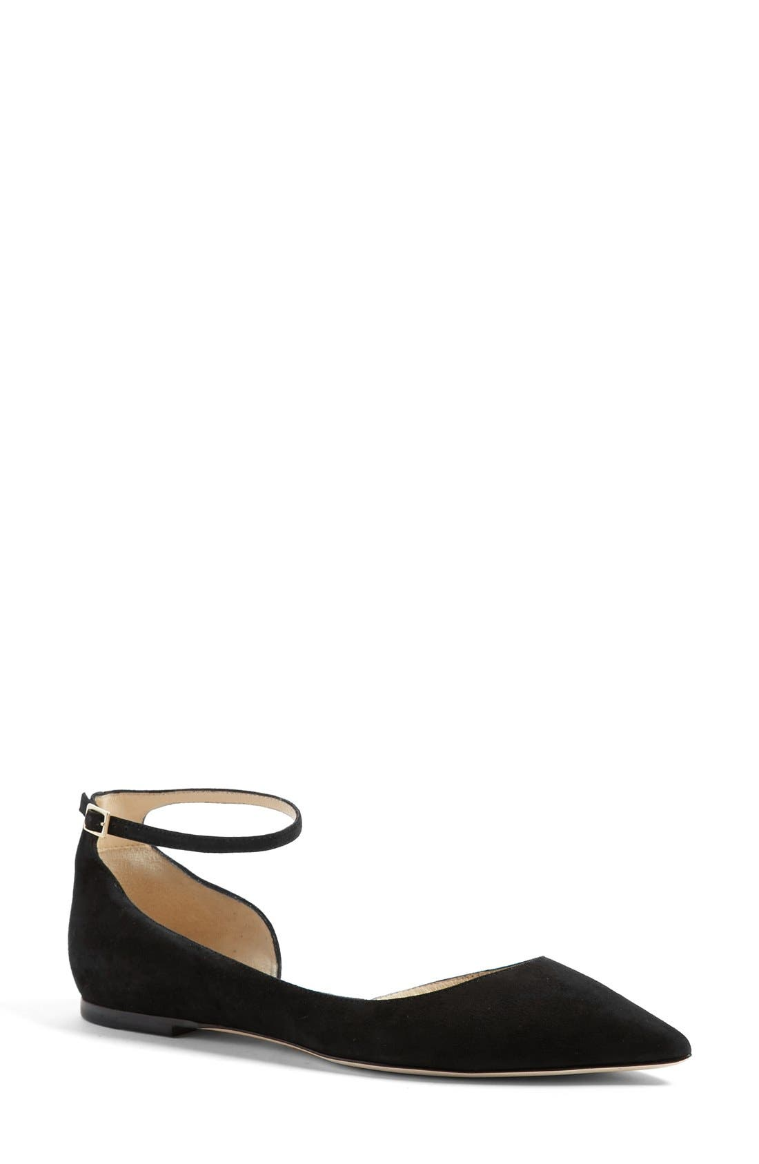 Alternate Image 1 Selected - Jimmy Choo 'Lucy' Half d'Orsay Flat (Women)