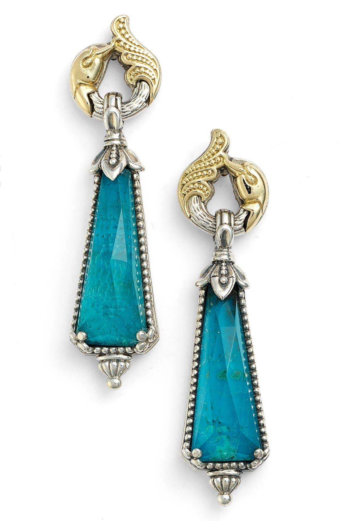 'Iliada' Doublet Drop Earrings,                         Main,                         color, Blue/ Green