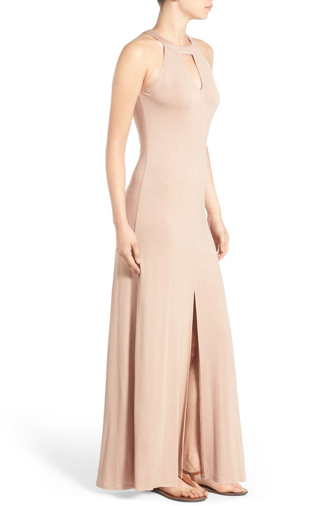Alternate Image 3  - Mimi Chica High Neck Maxi Dress