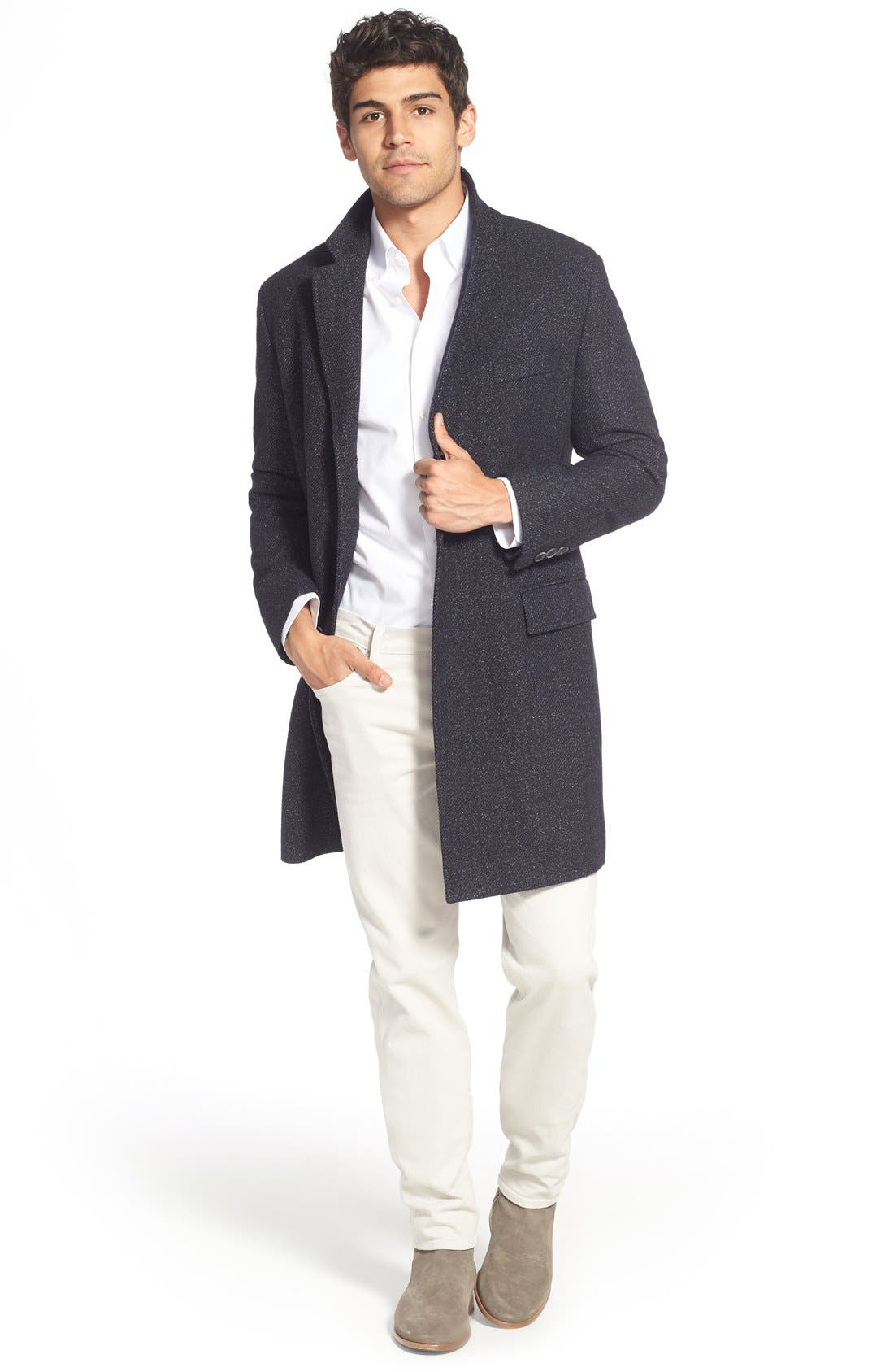 Alternate Image 6  - BOSS 'Nadim' Wool Blend Overcoat