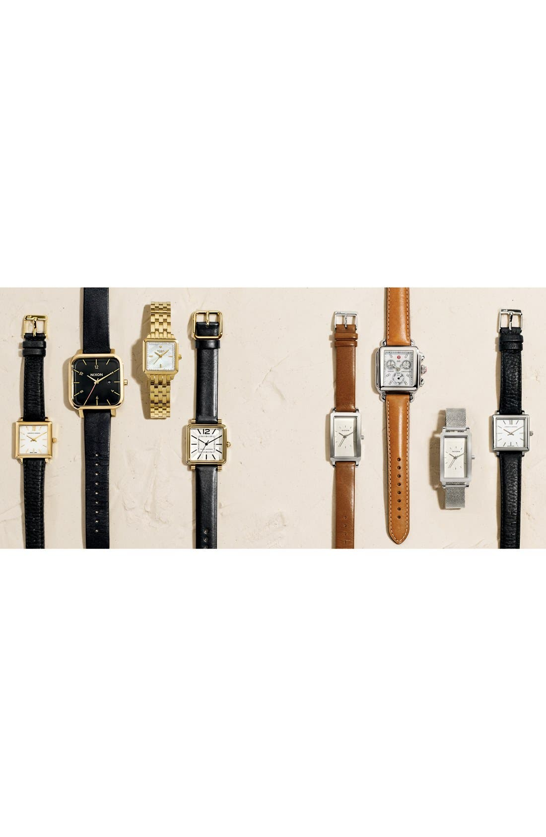 18mm Leather Watch Strap,                             Alternate thumbnail 2, color,