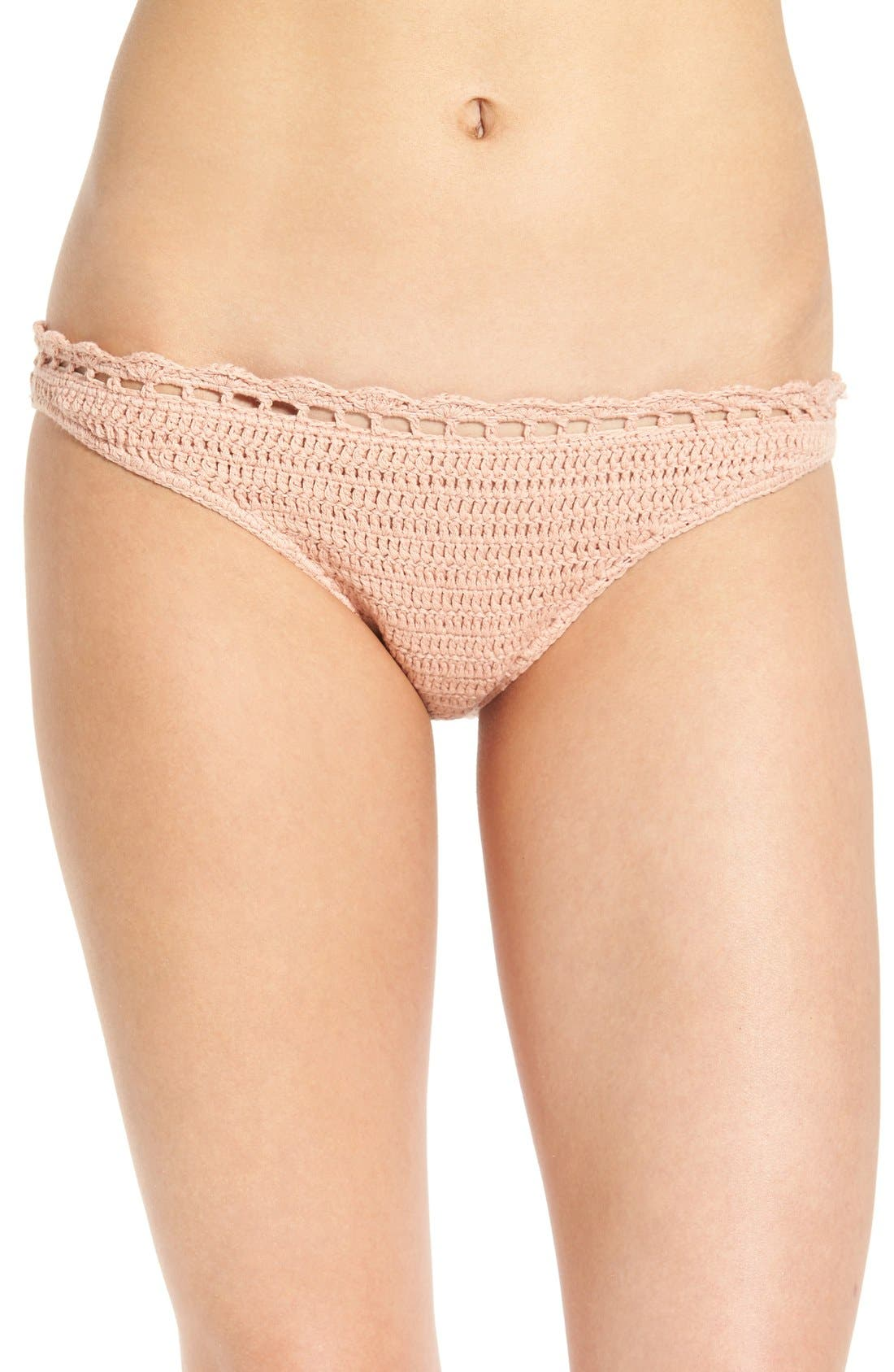 Alternate Image 1 Selected - Somedays Lovin 'Daphne' Crochet Bikini Bottoms