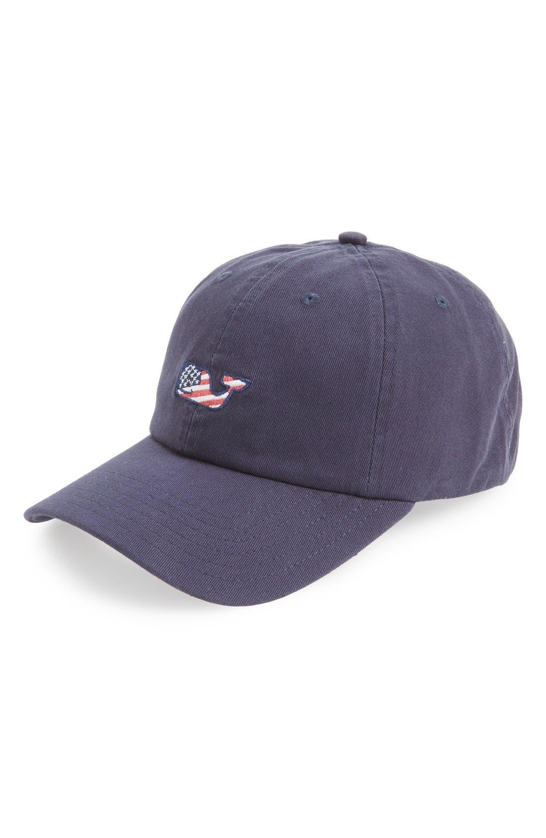 Main Image - Vineyard Vines 'Whale Flag' Baseball Cap