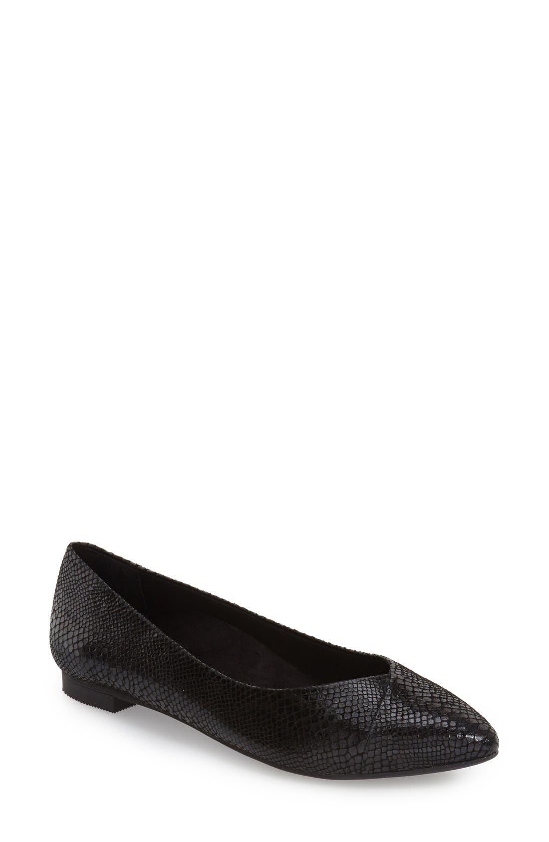 Vionic 'Caballo' Pointy Toe Flat (Women)