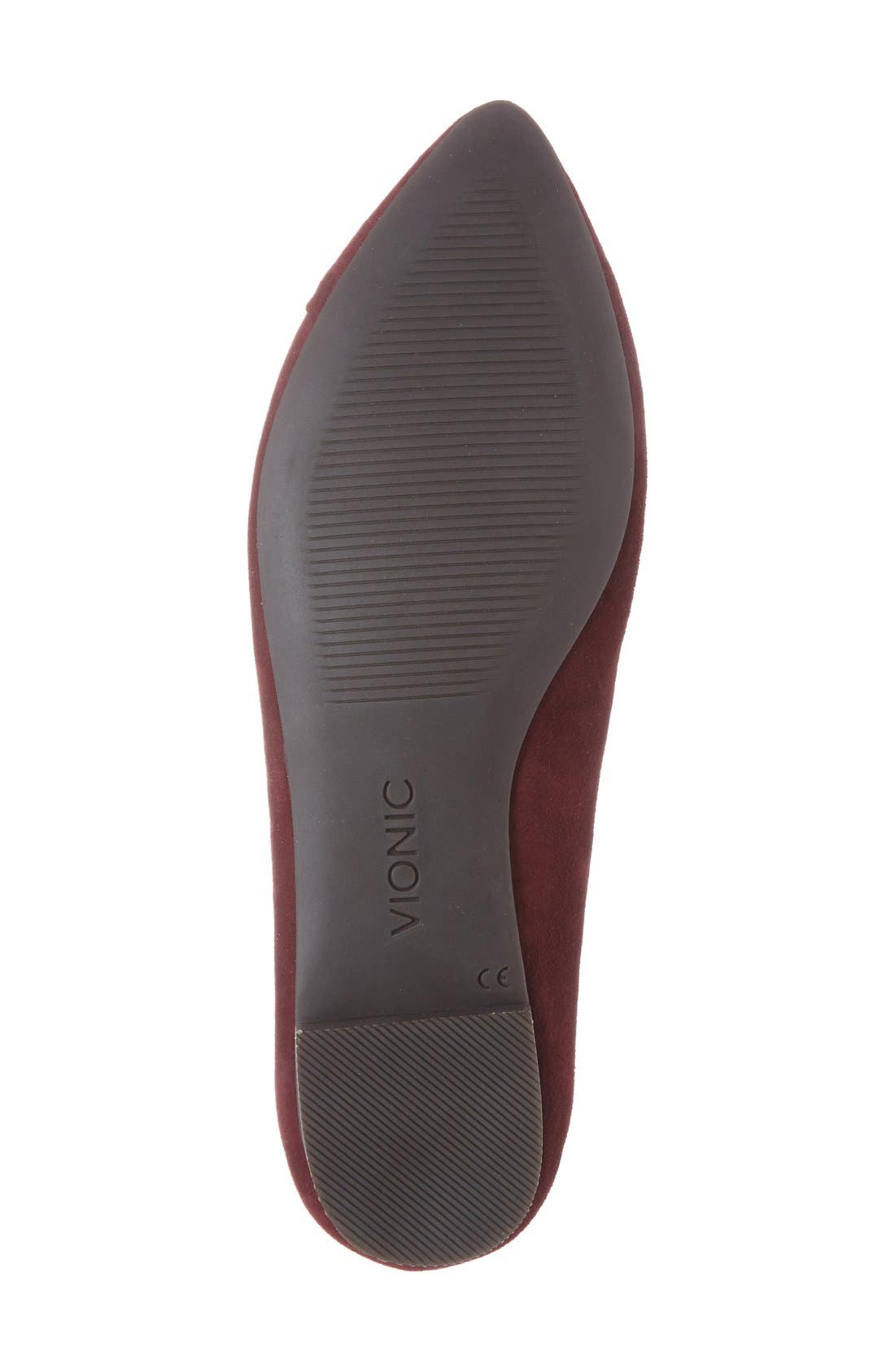 'Caballo' Pointy Toe Flat,                             Alternate thumbnail 2, color,                             Merlot Suede
