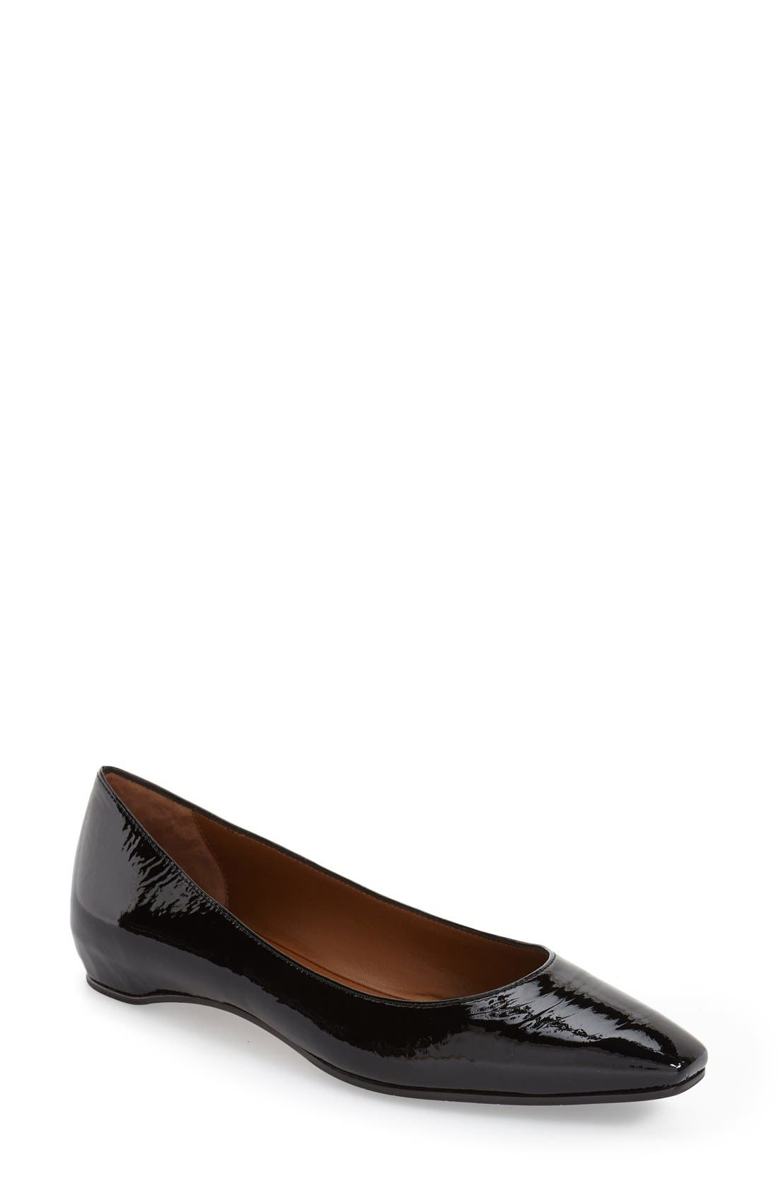 Marcella Weatherproof Leather Flat,                         Main,                         color, Black