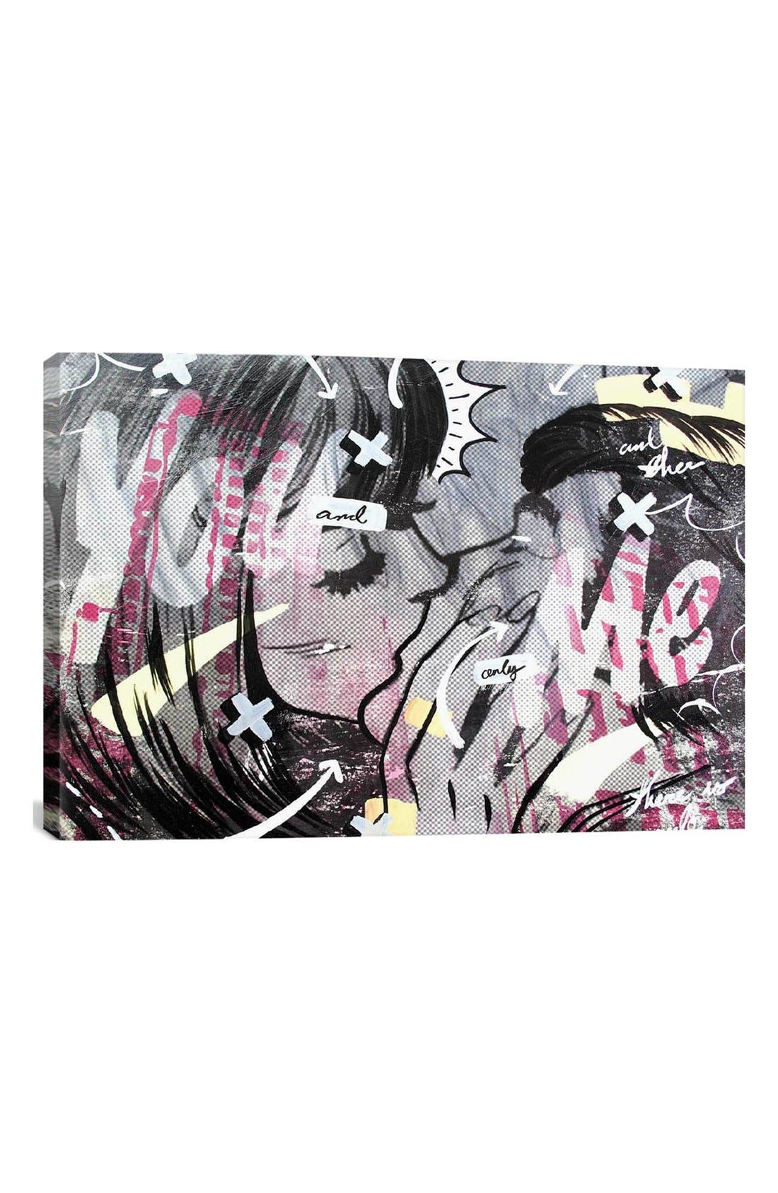 'And Only' Giclée Print Canvas Art,                         Main,                         color, White/ Black/ Pink