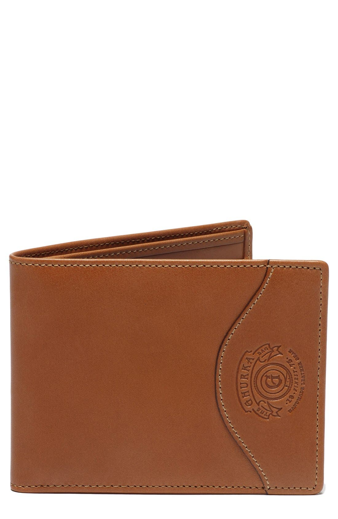 Alternate Image 1 Selected - Ghurka Leather Wallet with ID Case