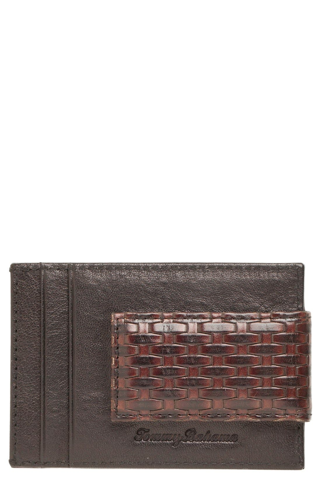 Alternate Image 1 Selected - Tommy Bahama Money Clip Card Case
