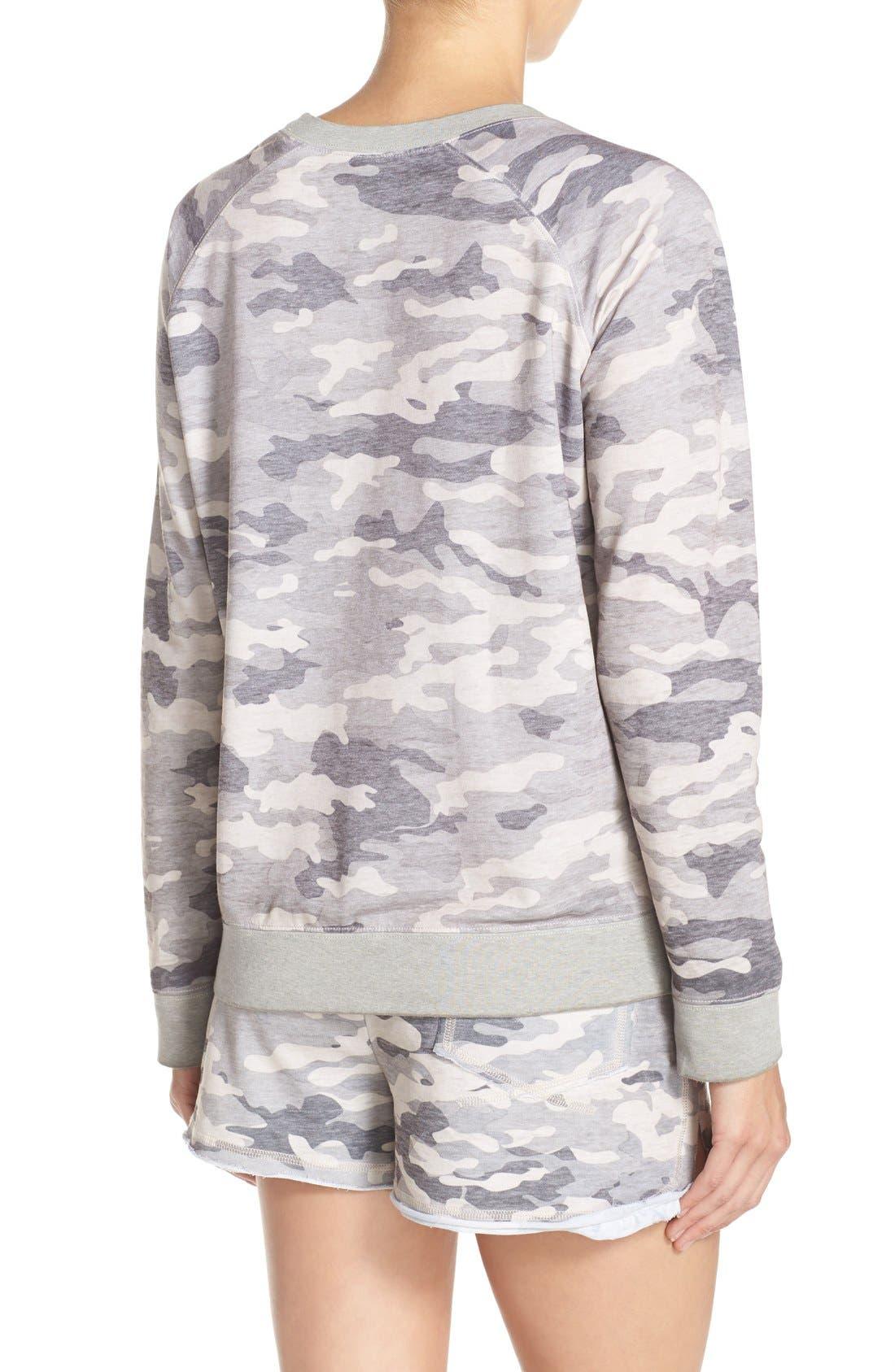 Burnout Lounge Sweatshirt,                             Alternate thumbnail 2, color,                             Grey Camo