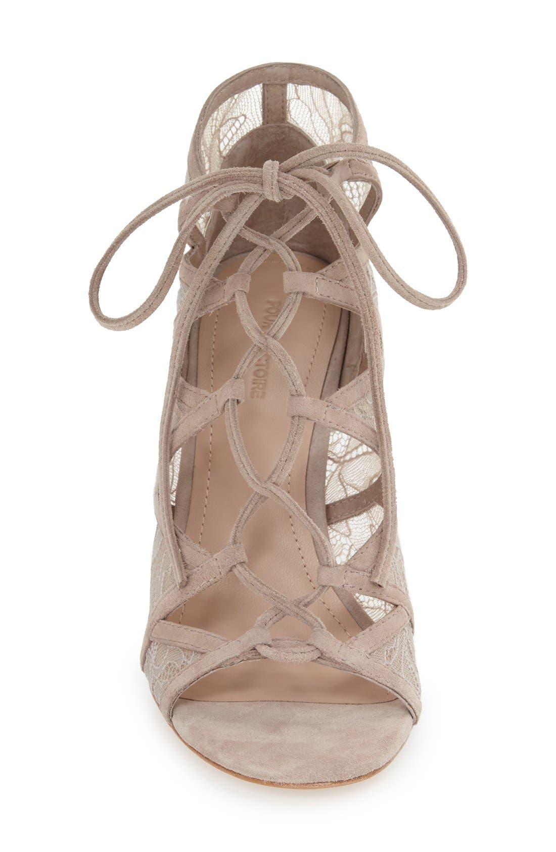 Alternate Image 3  - Pour la Victoire 'Ellery' Lace-Up Sandal (Women)