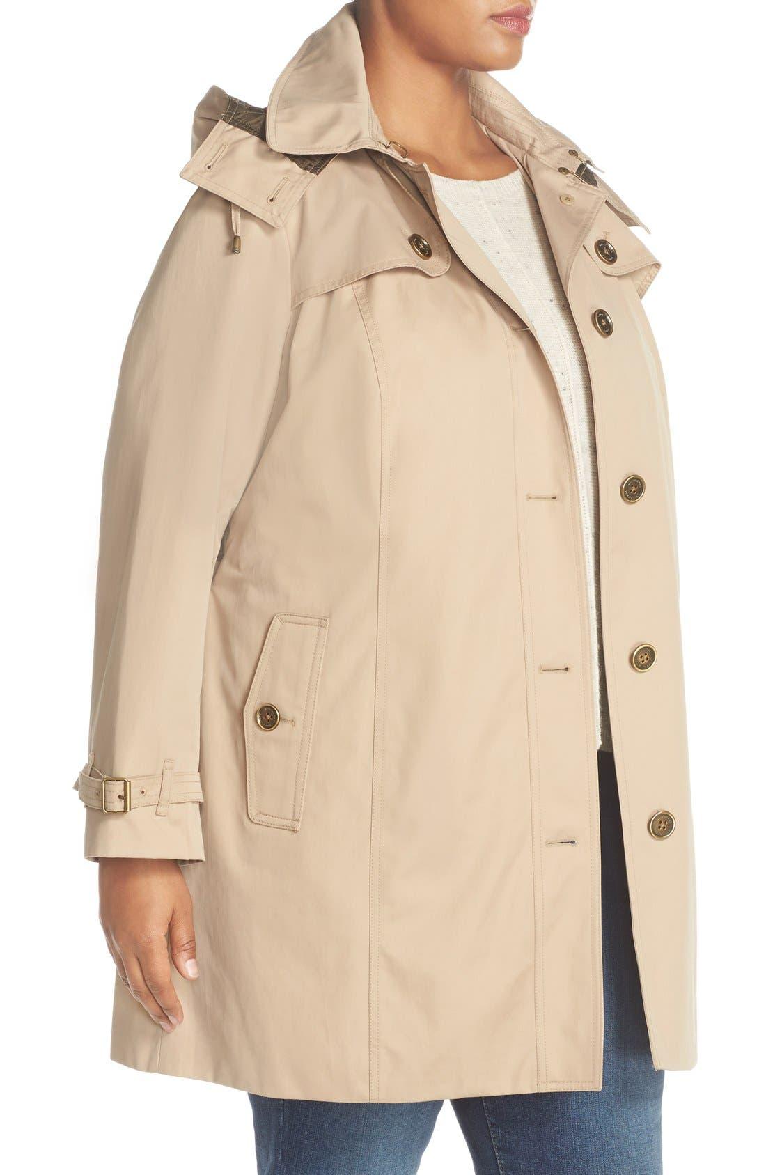 Alternate Image 3  - London Fog Single Breasted Trench Coat (Plus Size)