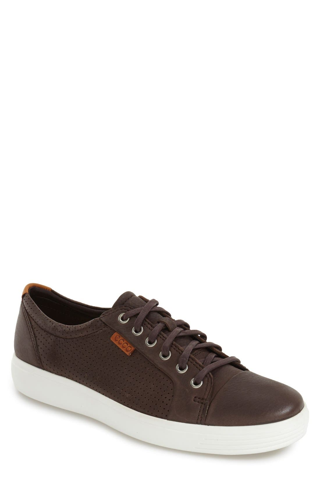'Soft 7' Sneaker,                             Main thumbnail 1, color,                             Coffee Leather