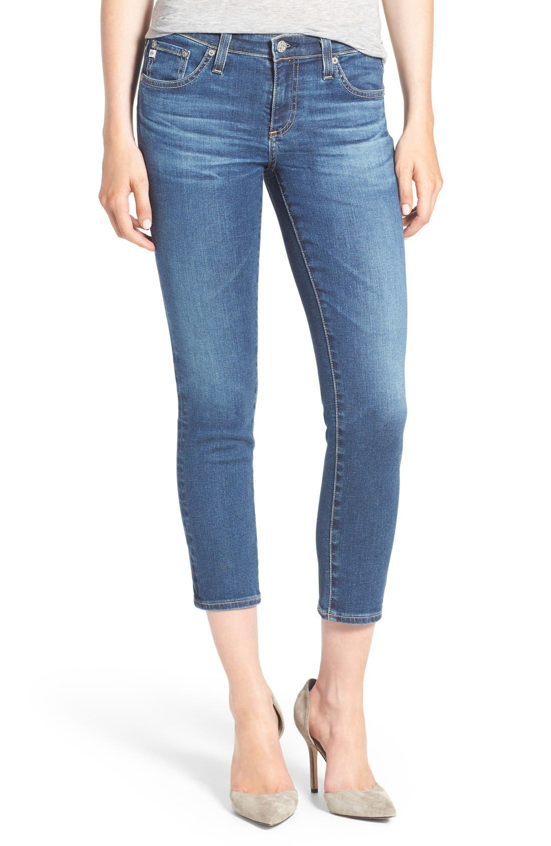 Alternate Image 1 Selected - AG Jeans 'The Stilt' Crop Skinny Stretch Jeans