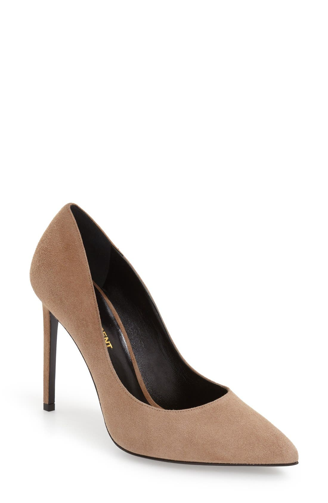 Saint Laurent 'Paris Skinny' Pointy Toe Pump (Women)