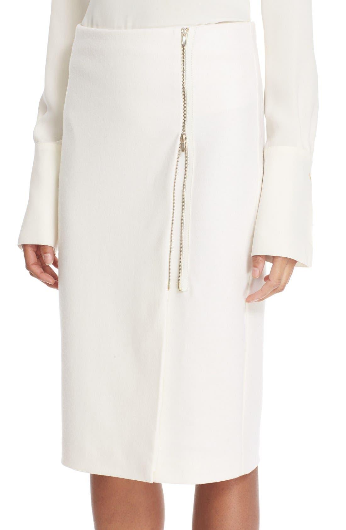 Alternate Image 6  - Max Mara 'Visita' Wool Jersey Pencil Skirt