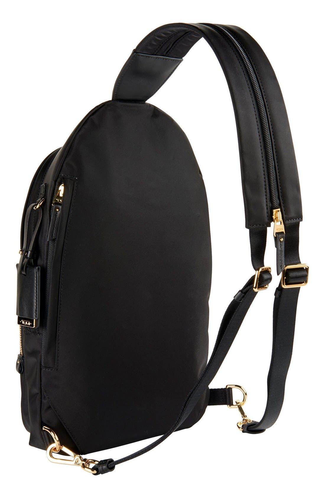Nadia Convertible Backpack,                             Alternate thumbnail 3, color,                             Black