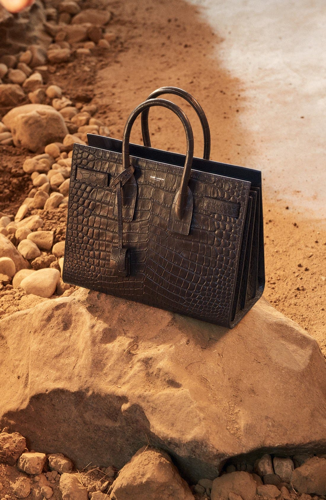 'Small Sac de Jour' Croc Embossed Leather Tote,                             Alternate thumbnail 7, color,