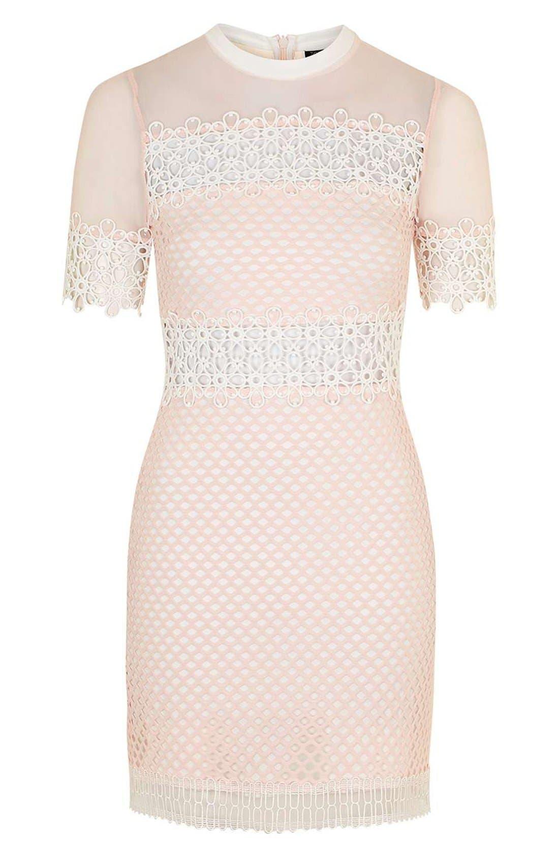 Alternate Image 4  - Topshop Mesh & Lace A-Line Dress