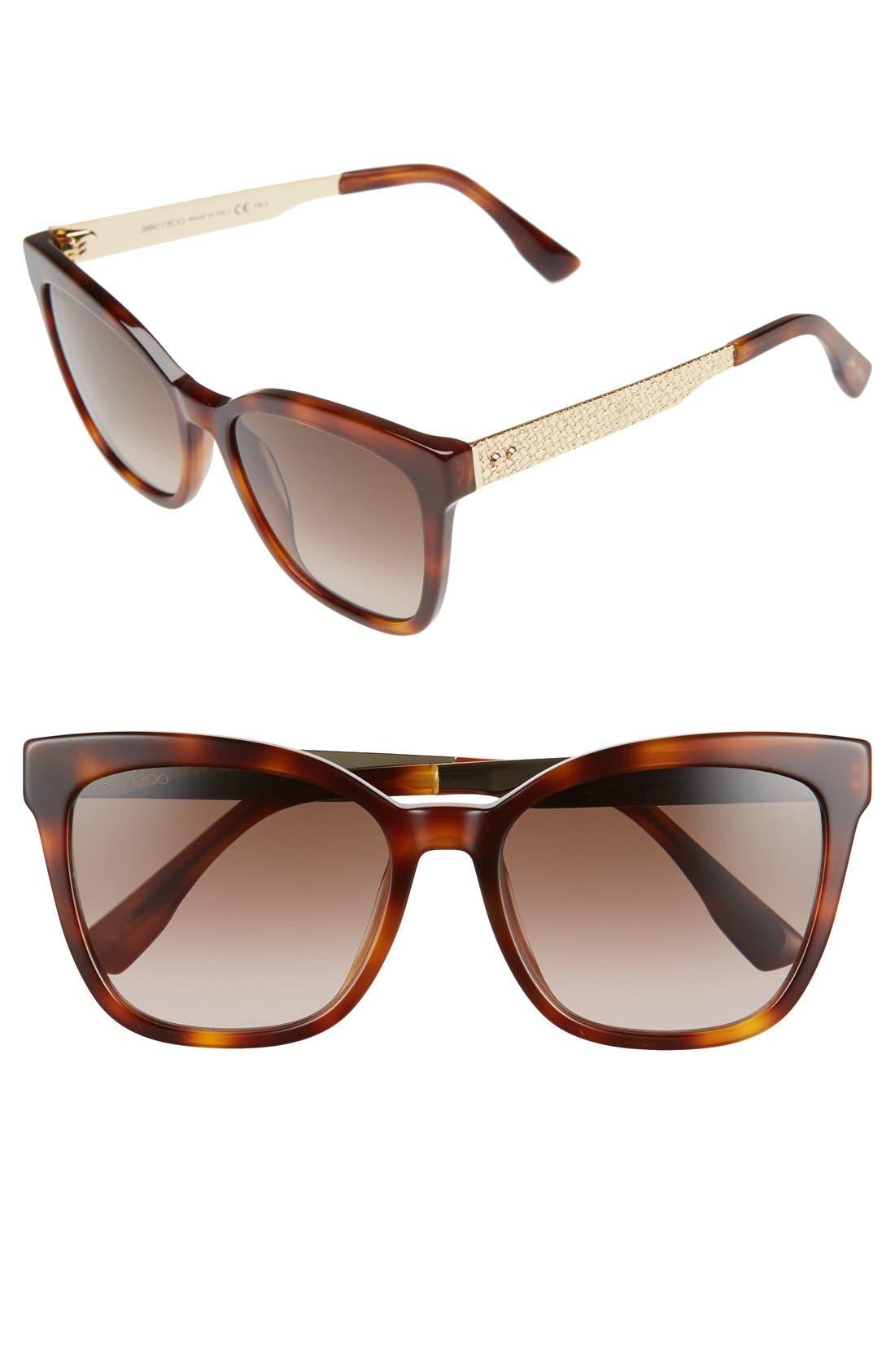 55mm Retro Sunglasses,                         Main,                         color, Havana