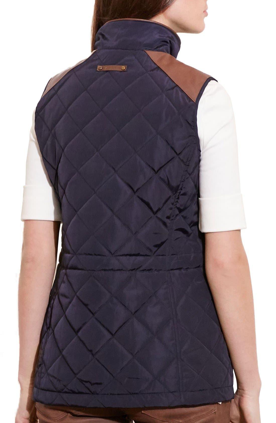 Alternate Image 2  - Lauren Ralph Lauren Quilt Vest (Regular & Petite)