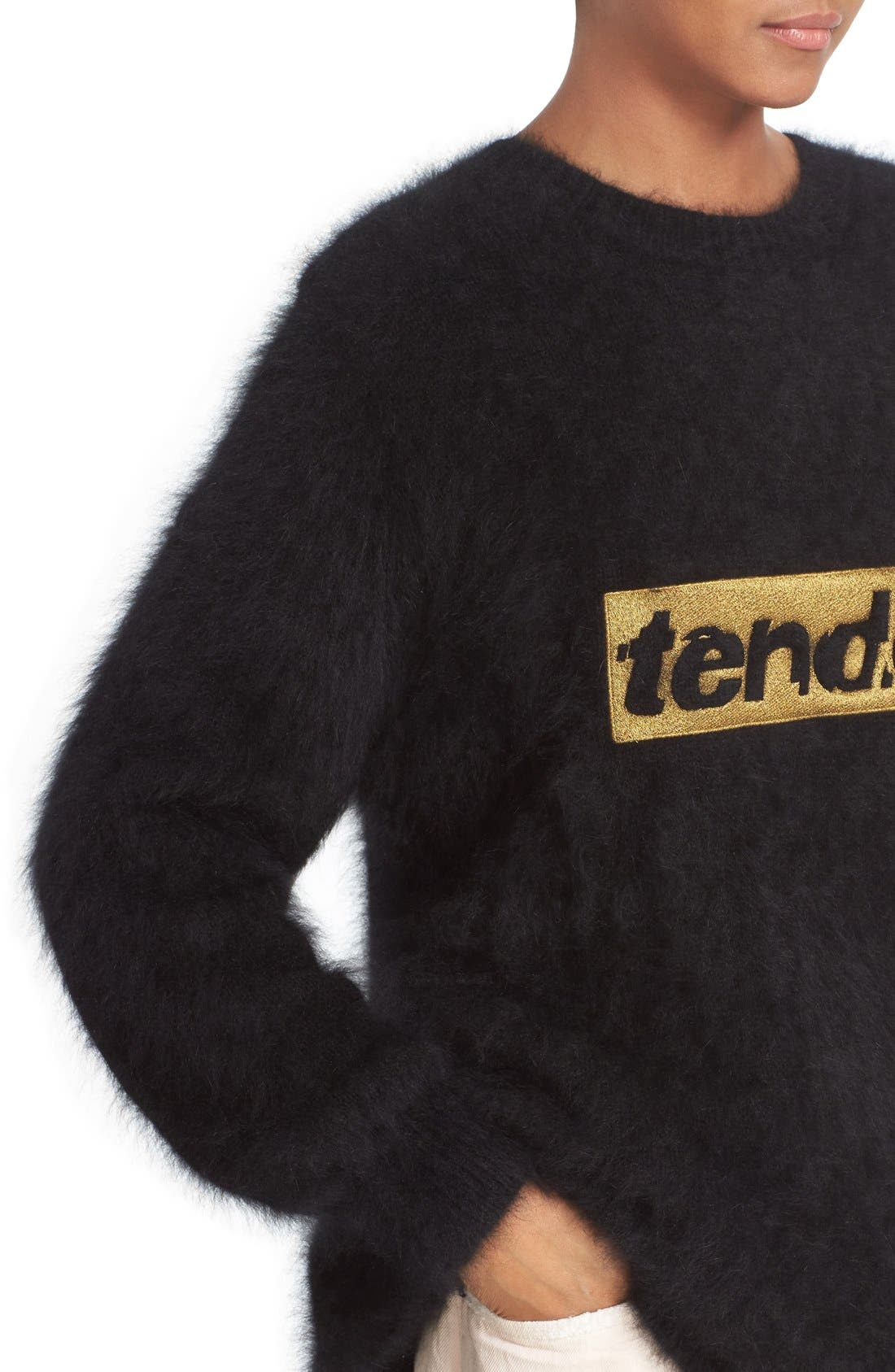 Alternate Image 6  - Alexander Wang 'Tender' Embroidered Wool Blend Sweater