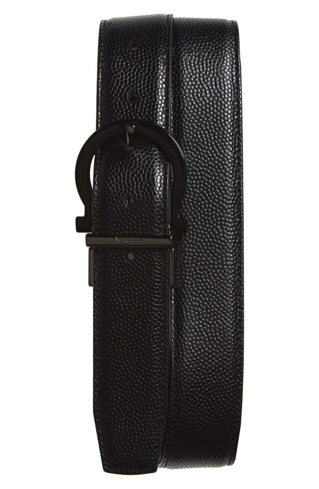 SALVATORE FERRAGAMO Reversible Calfskin Leather Belt